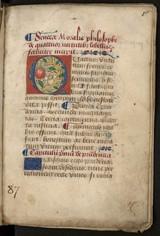"""Afficher """"MS 87 - Senecae libellus de quatuor virtutibus et S. Bernardi de contemptu mundi"""""""