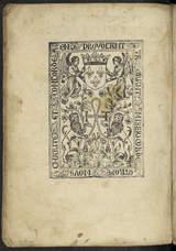 """Afficher """"Ensuyct le contenu de la paix entre le noble roy tres chrestien Charles de Vallois roy de France et de Henry de la marche roi d'Angleterre"""""""